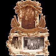 WW1 Memorial Frame with photos circa 1914 - 1916