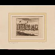 """17th Century Copper Engraving """"S.P.Q.R."""" & Caesar"""