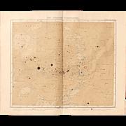 Art Nouveau Southern Map of the Stars / Star Chart (Stieler 1905)