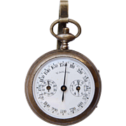 1900's Pedometer / Step Counter / Distance  Measurer from France by Henri Chatelain of Paris