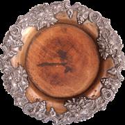 Belle Epoque Vine Pomp Relief Plate - Silver Plate & Wood