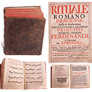 "1731 Catholic Church Liturgy ""Rituale Romano Pragense"" by Ferdinand Archbishop of Prague"