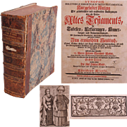 "1749 Book Explonation of The Five Books of Moses ""Synopsis Bibliothecae Exegeticae in Vetus Testamentum"" by Christoph Starke"