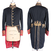 Original Catalan Guard Parade Coat with Gilded Sterling Silver Embroidery - Silk & Wool