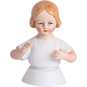 1900's Half Doll Child - Bisque Porcelain Germany