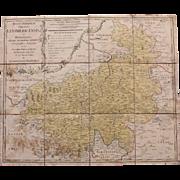 18th Century Map of Bohemia by HOMANN Hairs 1774