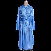 Vintage Dixi Hamburg Blue PVC Rain Coat