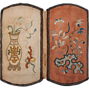 Antique Silk & Embroided Chinese Case