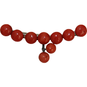 Gorgeous Antique Sardinian Coral Brooch