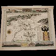 18th Century Map of Teplice  (Pieter Schenk)