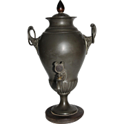 Early 19th Century GERMAN PEWTER Empire Samovar / Dröppelminna from Bergisches Land