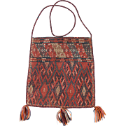 Authentic Hand Knotted Middle Eastern Carpet Bag