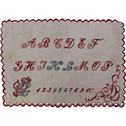 Early 20th Century Needle Work Sampler