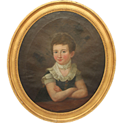 Masterpiece 19th Century Portrait of Young Girl / Lady - Oil Painting on Canvas with Original Gilt Frame from Germany Biedermeier circa 1810