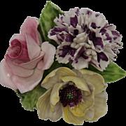 Crown Staffordshire Bouquet of magnificent Porcelain Flowers - Fine Bone China