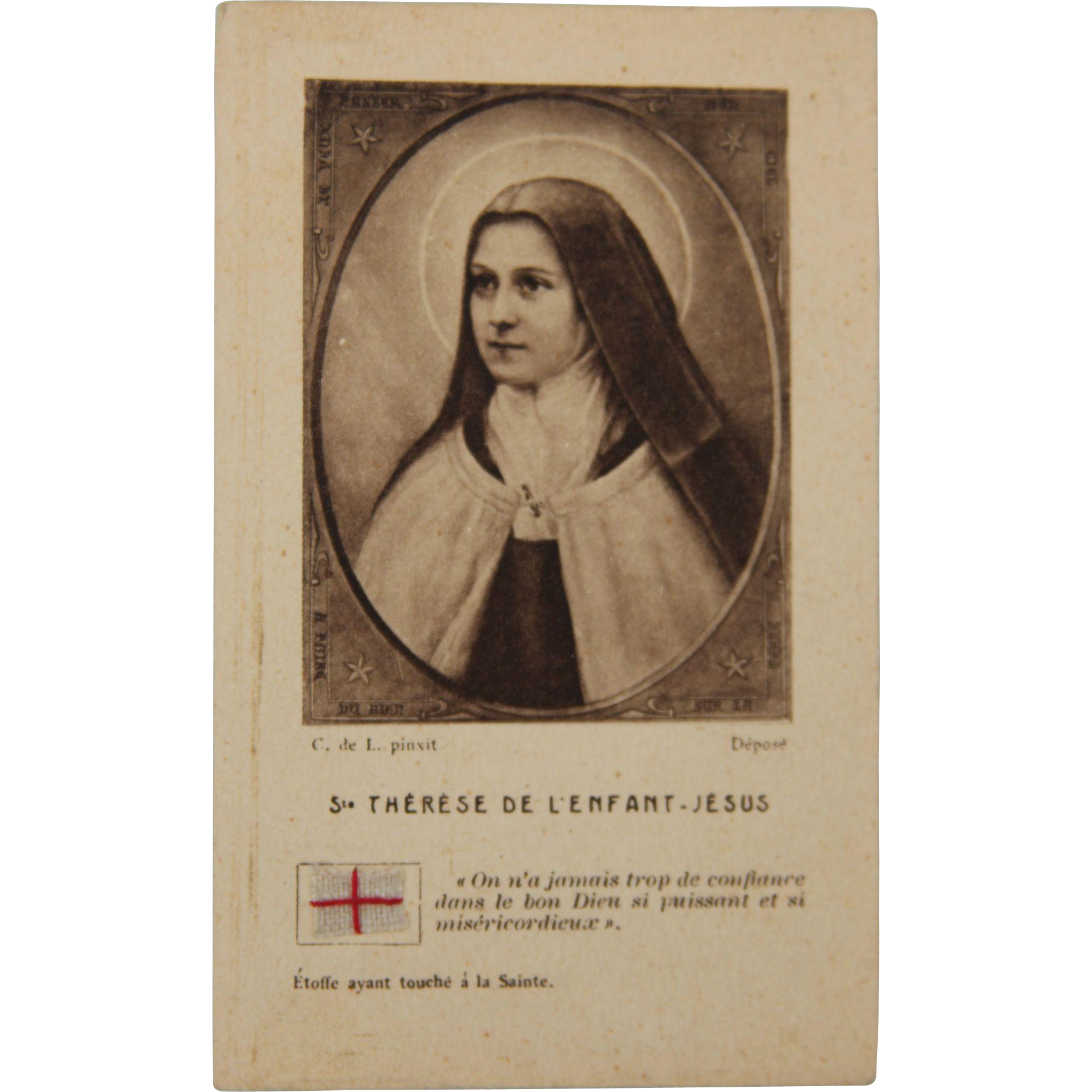 "Saint Thérèse of Lisieux ""The Little Flower of Jesus"" Paper Reliqua"