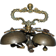 18th Century Bronze Altar / Sacristy / Sanctus Bells - Baroque Bells with Cherub