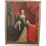 17th Century Baroque Portrait of a Noble Lady - Oil Painting