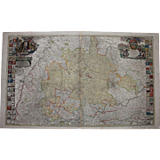 18th Century Map of Wuerttemberg Germany by JOHANN BAPTIST HOMANN 1710
