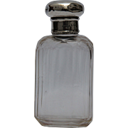 Antique English Cut Crystal, Sterling Silver Perfume Bottle from 1905