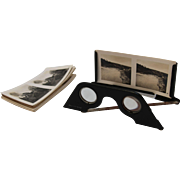 WWII Stereoscope from Germany by Raumbild-Verlag with 18 Black and White Pictures