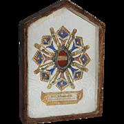 19th Century Reliquary Shadow Box Picture - S. Venusti M.