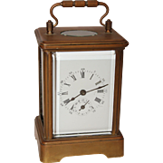 19th Century French Carriage Clock by Japy Frères - Victorian Music Box Alarm Clock