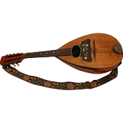 Bowl-Back Mandolin with Mother of Pearl Inlay - Early 20th Century Bowl-Back Mandolin - Germany