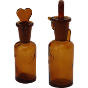 19th Century Pharmacy Drip by Drop Anesthesia Bottle / Tropfflasche by Lamprecht's Germany