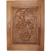 18th Century Nativity Scene / Wood carved Depiction of the Birth of Jesus Christ
