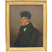 "19th Century Oil Painting on Canvas ""Portrait of a Priest"" from Germany Biedermeier circa 1825"