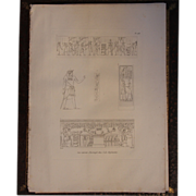 1802 Original Copper Engraving from Napoleons Travels to Egypt (Vivant Denon) Page 128