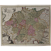 Large 17th Century Map of the Holy Roman Empire / Germany (Nicolaum Visscher)