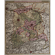 17th Century Antique map of then Vicinity of Leuven and Aarschot - Belgium - by Visscher N. II (1680)
