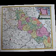 Rare antique Map of Silesia (Poland/Germany) (DANCKERTS circa 1700)