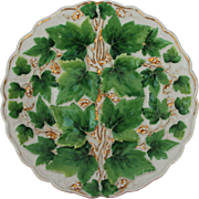 18th Century Meissen Porcelain Vine Pomp Relief Plate / Ceremonial Plate - Handpainted with Gilt
