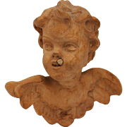 Small Original Baroque Antique Putti / Angel / Cherub (Wood)