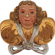 Baroque Putti / Angel / Cherub 18th Century - Wood carved