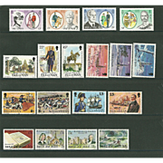 Isle of Man Postage Stamp Lot From 1980 in Mint Never Hinged Condition - Lot #1