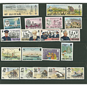 Isle of Man Postage Stamp Lot From the 1980's in Mint Never Hinged Condition - Lot #2