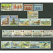 Isle of Man Postage Stamp Lot From the 1980's in Mint Never Hinged Condition - Lot #3
