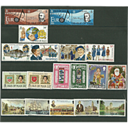 Isle of Man Postage Stamp Lot From the 1980's in Mint Never Hinged Condition - Lot #4