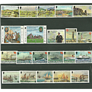 Isle of Man Postage Stamp Lot From 1980 in Mint Never Hinged Condition - Lot #5