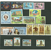 Isle of Man Postage Stamp Lot From the 1980's in Mint Never Hinged Condition - Lot #7
