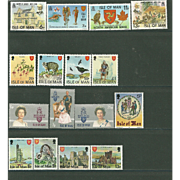Isle of Man Postage Stamp Lot From the 1980's in Mint Never Hinged Condition - Lot #8