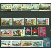 Jersey Postage Stamp Lot From the 1980's in Mint Never Hinged Condition - Lot #1