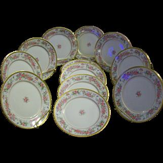 Limoges Dessert Plates (12)