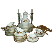 Royal Copenhagen Brown Rose Porcelain Luncheon Set