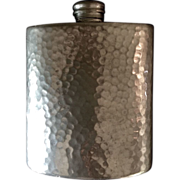 Vintage Women's English Hand-hammered Pewter 3-ounce Hip Liquor Flask