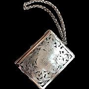 Antique Sterling Silver Dance Card Holder or Calling Card Holder